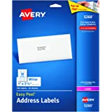 Avery 5260 Easy Peel Mailing Address Labels, Laser, 1 x 2 5/8, White (Pack of 750)