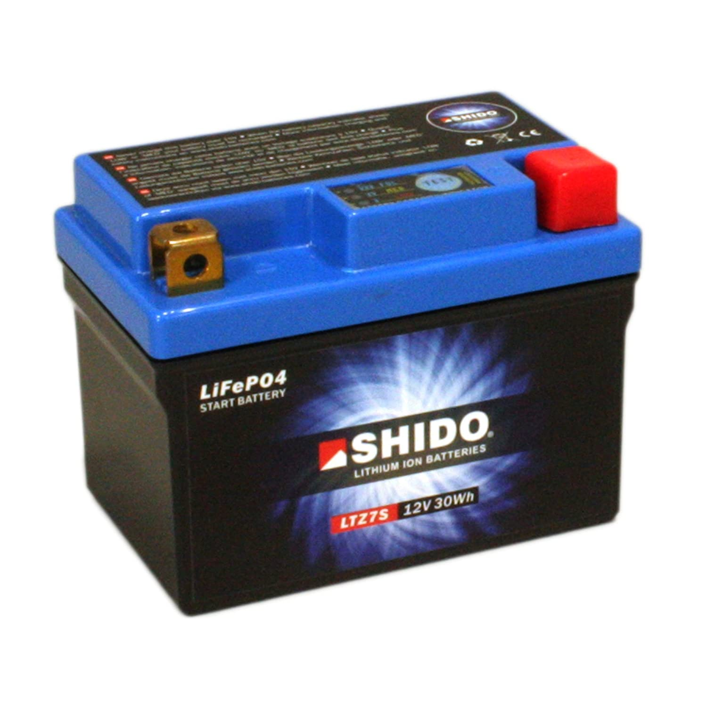 Batterie Shido Lithium LTZ7S/YTZ7S 12 V 6Ah (Dimensions: 113X70X105) for Yamaha YZF1000 R1 Year 2016