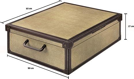 Kanguru Tapirus Caja de Almacenamiento en cartòn Lavatelli, Modelo, Multicolor, Bajo Cama, 60x50x17cm: Amazon.es: Hogar