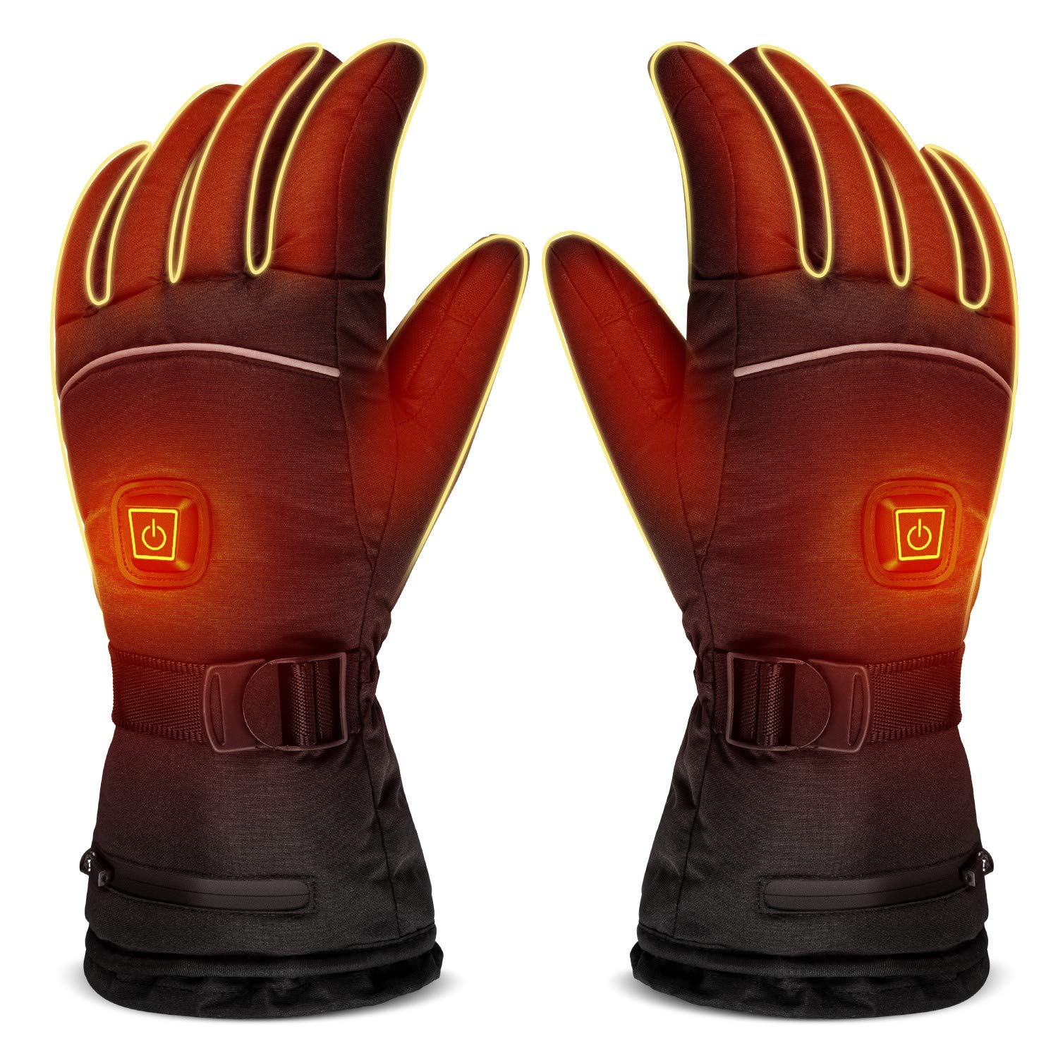 LUWATT Heated Gloves 8H Working Hours 3500mAh Rechargeable Battery Three Temperature Settings Electric Heat Resistant Gloves for Men Women for Sports Outdoor Climbing Hiking Skiing Winter Handwarmer by LUWATT