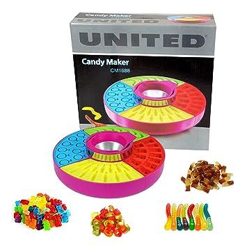 CrazyGadget® – Fábrica de golosinas Candy Maker CM1688 para gominolas de gelatinaHace hasta 41 caramelos