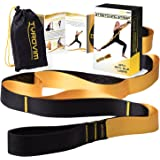 TyroVim Yoga Stretching Strap With 12 Loops For Physical Therapy And Flexibility With Stretch Out Exercise eBook & Carrying Bag