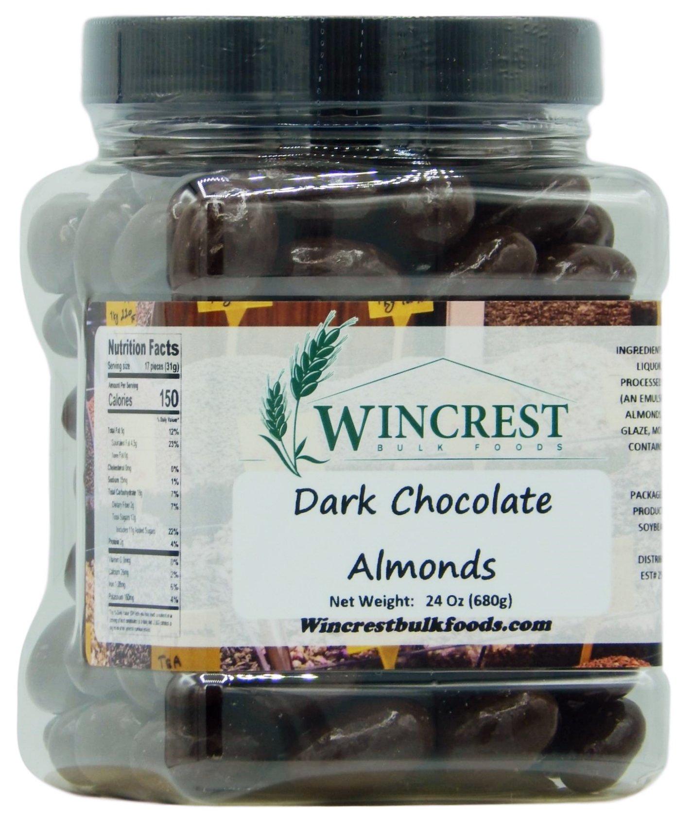 Dark Chocolate Almonds - 1.5 Lb Container