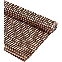 مفرش للرف ودرج المطبخ او الخزانة من بلاستيك بي في سي من كوبر اندستريزبتصميم مربعات، لفة بطول 10 امتار، براو