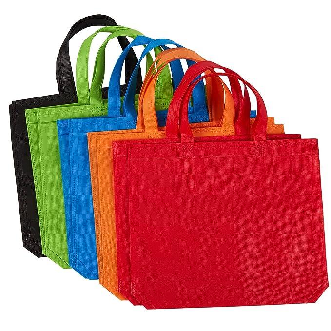 Amazon.com: Paquete de 10 bolsas de regalo – tela no tejida ...