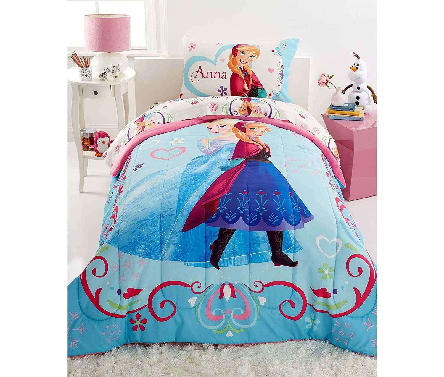 Amazon.com: Disney Frozen Springtime Floral Full Sheet Set Bedding: Home &  Kitchen - Amazon.com: Disney Frozen Springtime Floral Full Sheet Set Bedding