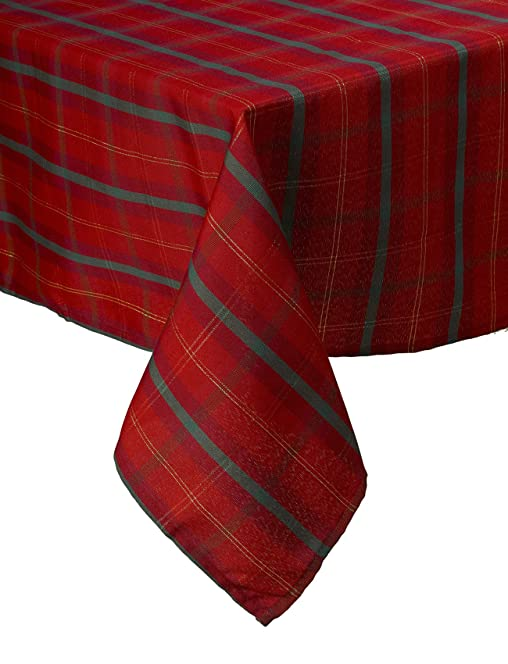 Delightful Red Tartan Tablecloth 52/70u0026quot;