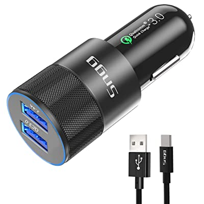 USB Type C Car Charger,Sngg USB C Car Charger Compatible Samsung Galaxy S10 Plus/S10/S10e/S8/S8 Plus/S9/S9 Plus/Note 9/8, Google Pixel/Pixel XL/2/2 XL/3/3 XL, Quick Charge 3.0 Port,3 FT USB C Cable