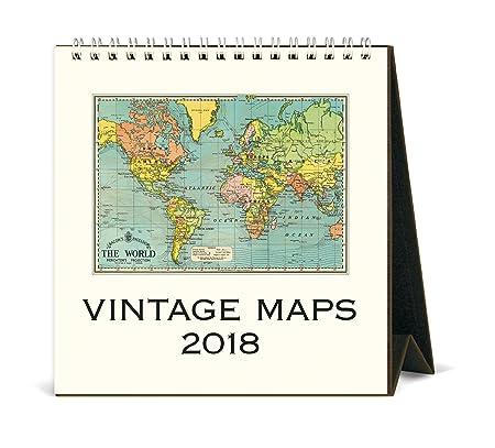 Cavallini papers co 2018 vintage maps desk calendar amazon cavallini papers co 2018 vintage maps desk calendar gumiabroncs Gallery
