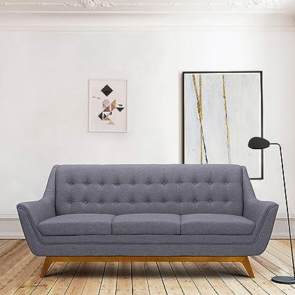 Amazon.com: Armen Living LCJO3GR Janson Sofa, Dark Gray ...