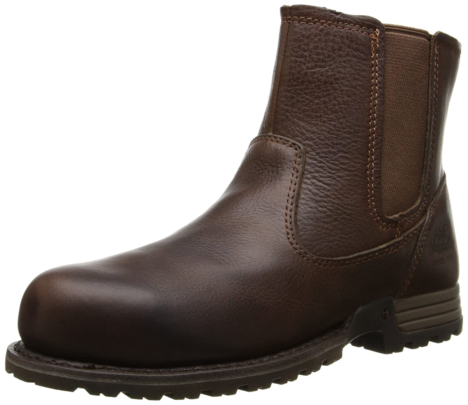 52963098264 Caterpillar Women's Freedom Pull on Steel Toe Work Leather Boot