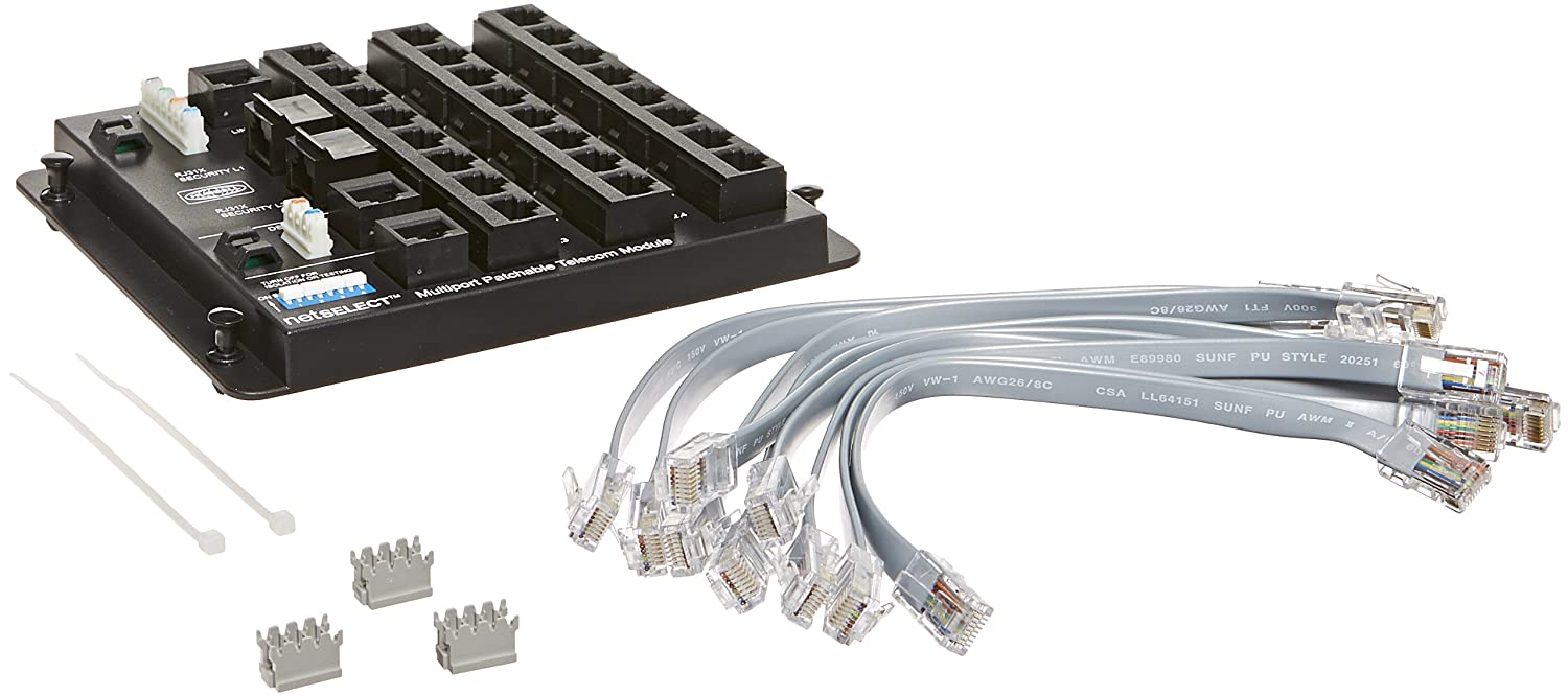 Hubbell Wiring Systems Nsomtm24 Netselect Structured Powder What Is A System Coated 18 Gauge Steel Multiport Patchable Telecom Network Module 647 Width X 6 Height
