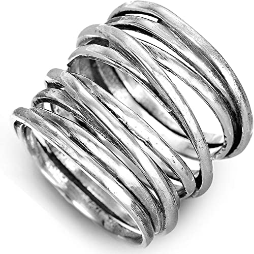 Band ~ Choose Size 925 Sterling Silver ~ Love Wrap Ring