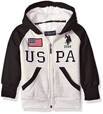 Amazon Com U S Polo Assn Boys Sherpa Lined Thermal Hoodie Clothing