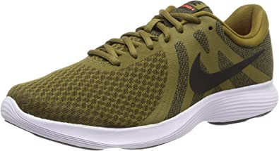 Nike Revolution 4, Zapatillas de Entrenamiento para Hombre, Multicolor (Olive Flak/Black-Hyper Crimson-White 301), 40.5 EU: Amazon.es: Zapatos y complementos