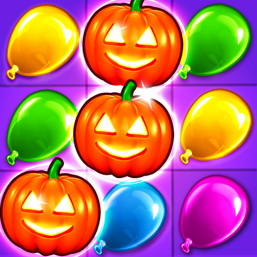 Balloon Paradise - Halloween Games Edition - Match 3 Puzzle Adventure