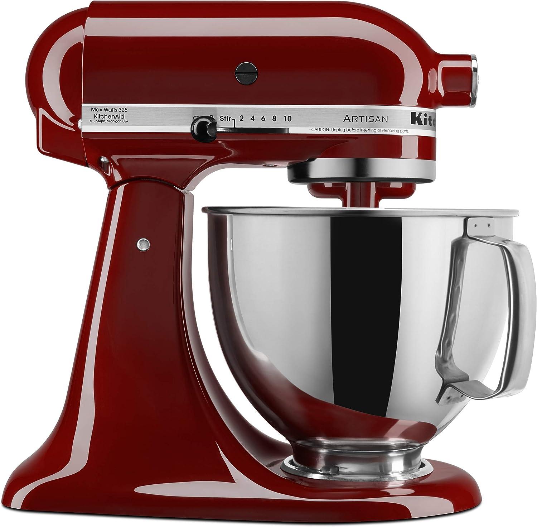 Kitchenaid Ksm150psgc Artisan Series 5 Qt Stand Mixer With Pouring Shield Gloss Cinnamon Amazon Co Uk Home Kitchen