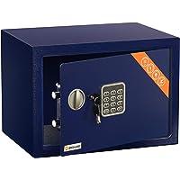 Brihard Family Caja fuerte Electrónica, 25x35x25cm (HxWxD), Azul
