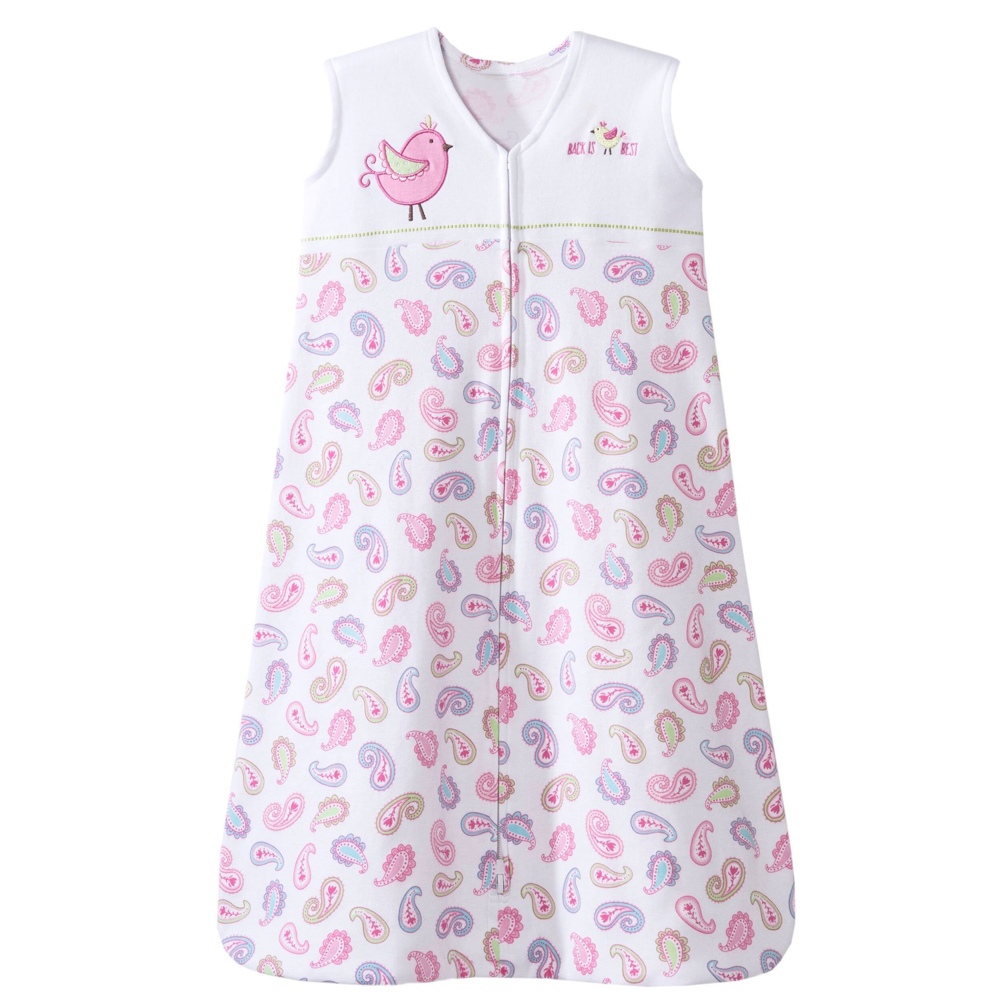 HALO Sleepsack 100% Cotton Wearable Blanket, Pink Pretty Paisley, Small by Halo (Image #1)