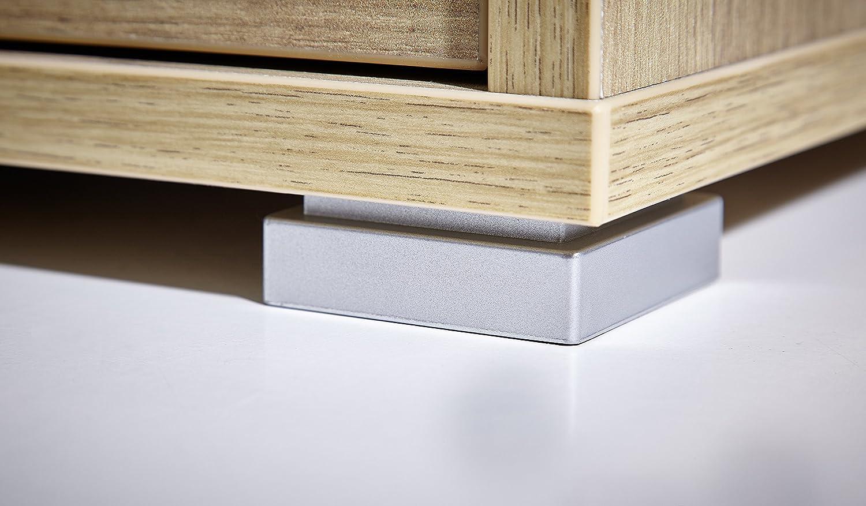 145//75//70 cm l//h//p env coloris Blanc Germania Bureau 4080-84 avec 2 conteneurs