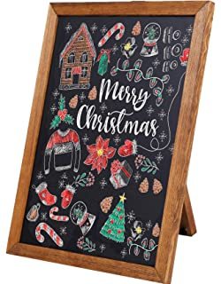 Amazon.com: Rustic Whitewashed Magnetic Wall Chalkboard ...