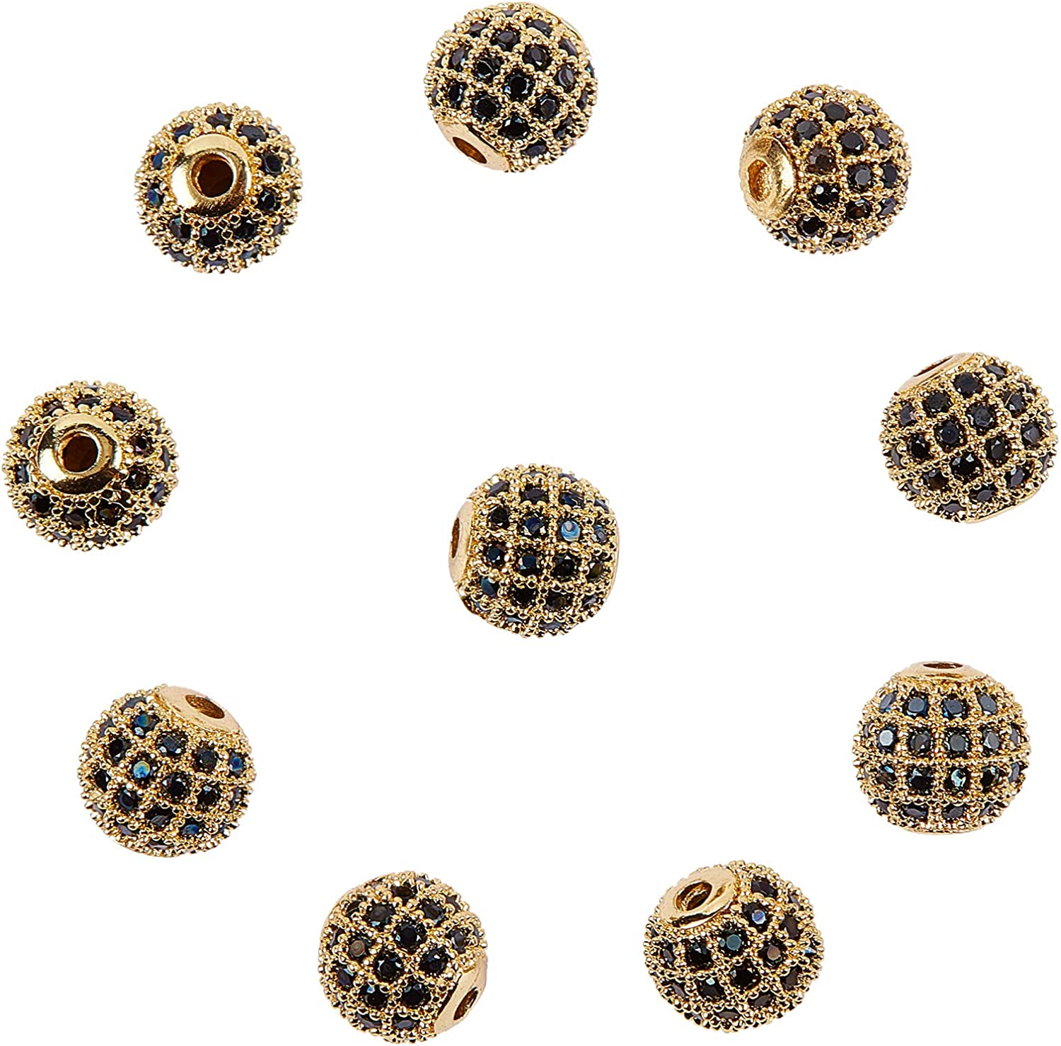 100Pcs New Arrival Lot Micro Pave Disco Crystal Shamballa Beads Bracelet Spacer