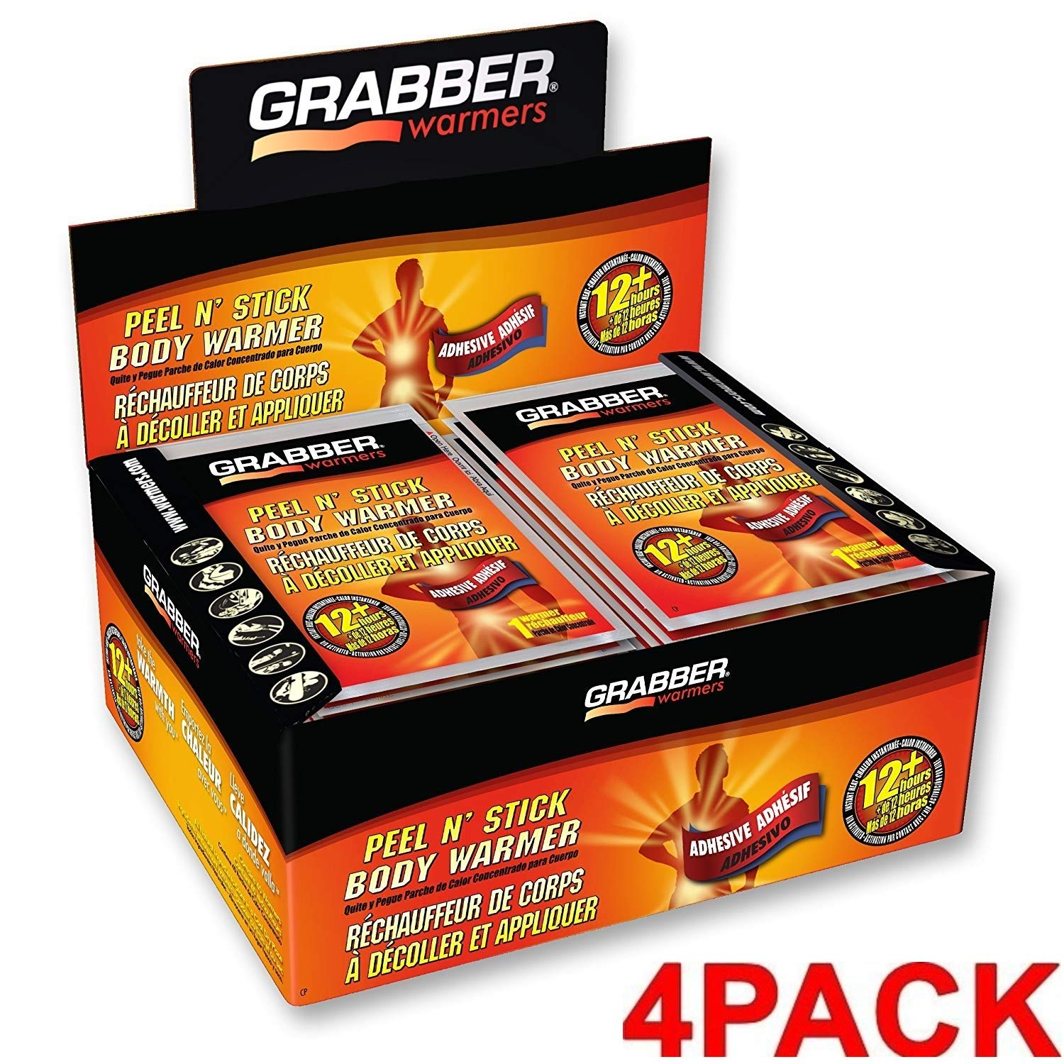 GRABBER WARMERS Peel N' Stick Body Warmers (4 Pack 40 Count) by GRABBER WARMERS