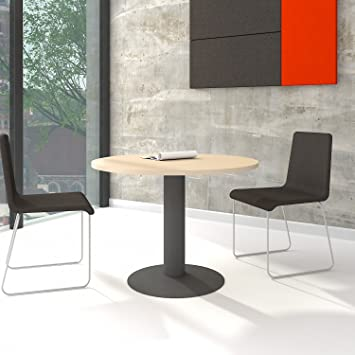 Fantastisch OPTIMA Runder Besprechungstisch Esstisch Küchentisch Tisch Ahorn Rund Ø 100  Cm