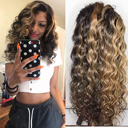 Amazon.com: Encaje frente peluca cabello humano pre ...