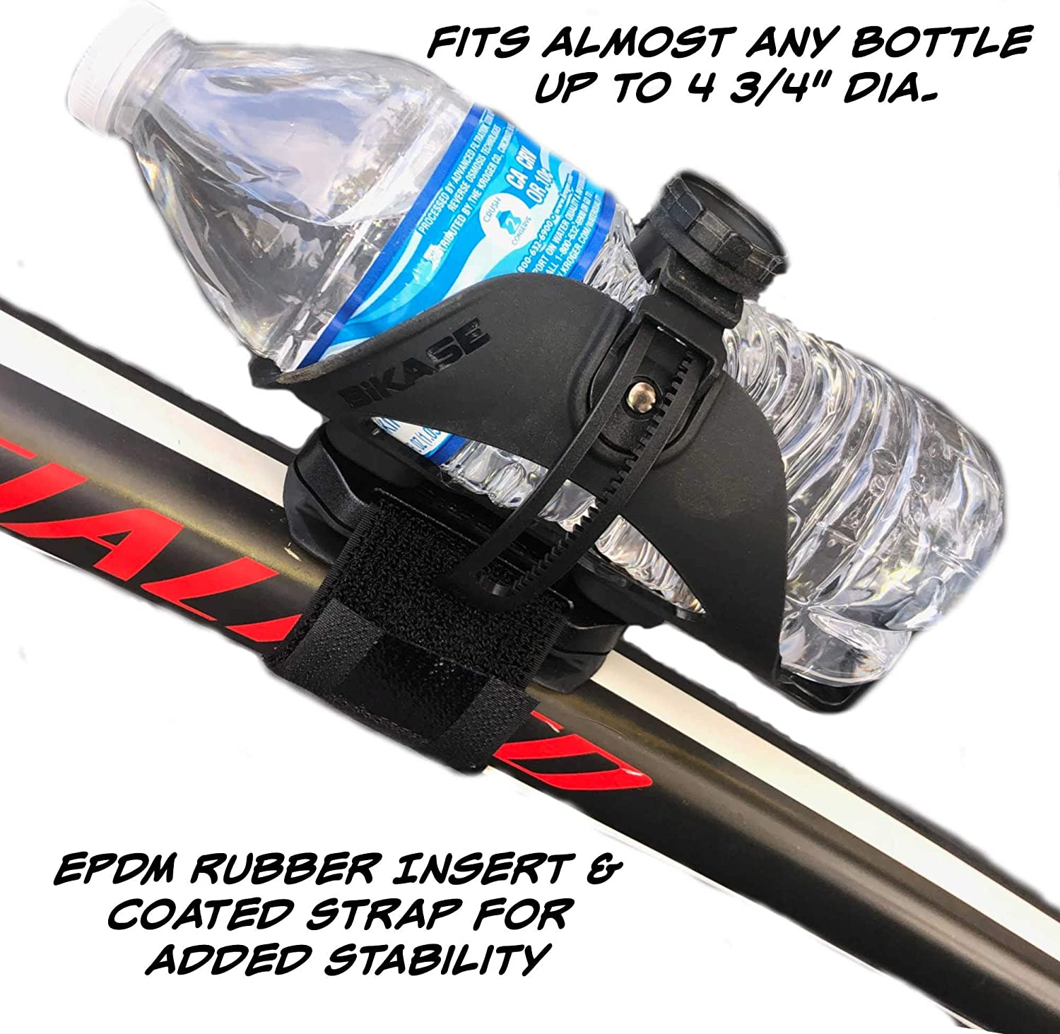 Bicycle Water Bottle Plastic Cage Ultra-Light Black PERFECT Adapter Mount NEW!