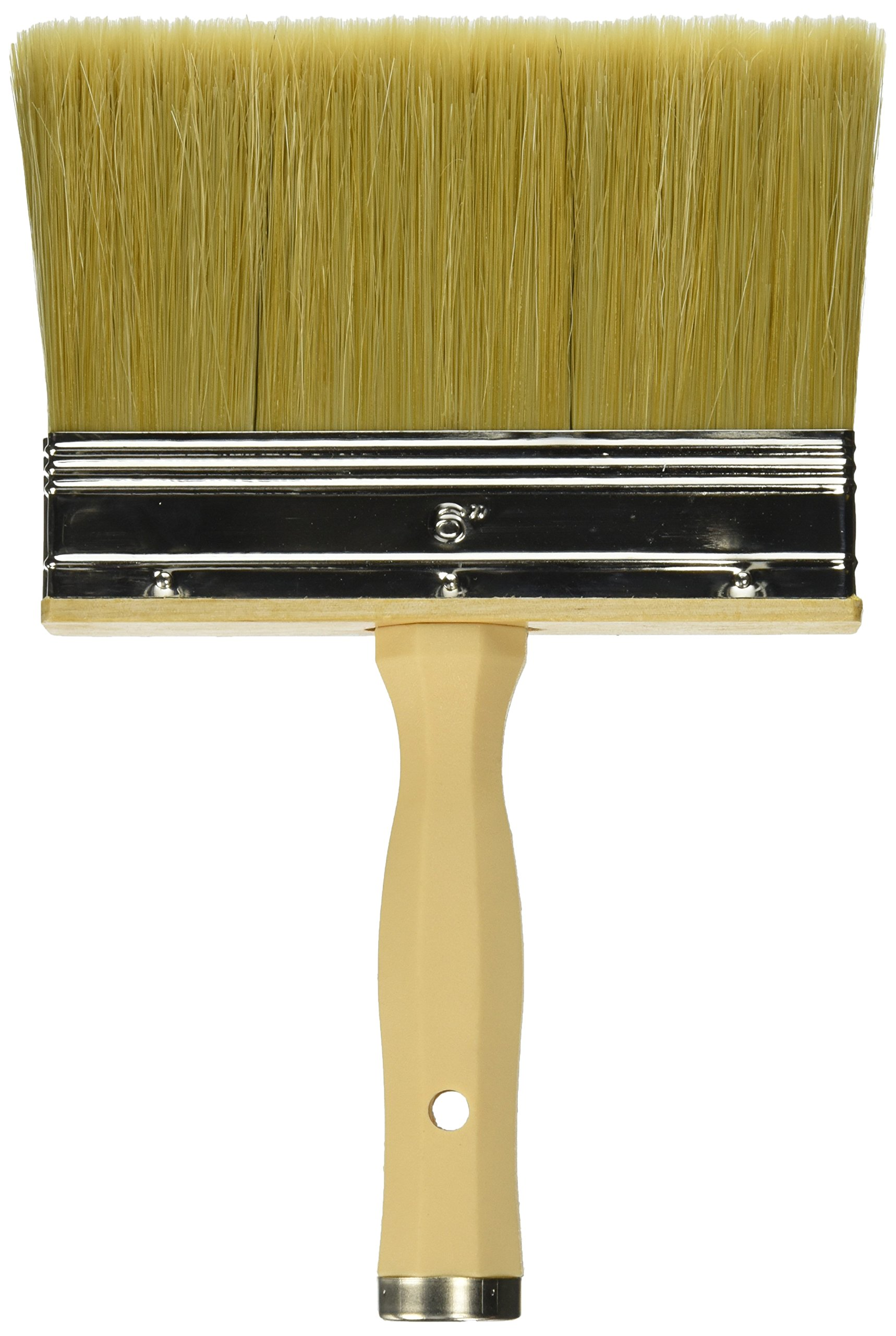 Linzer 3550 0600 Professional Quality Polyester & Bristle Stain Brush, For Staining and Waterproofing, 6-Inches.
