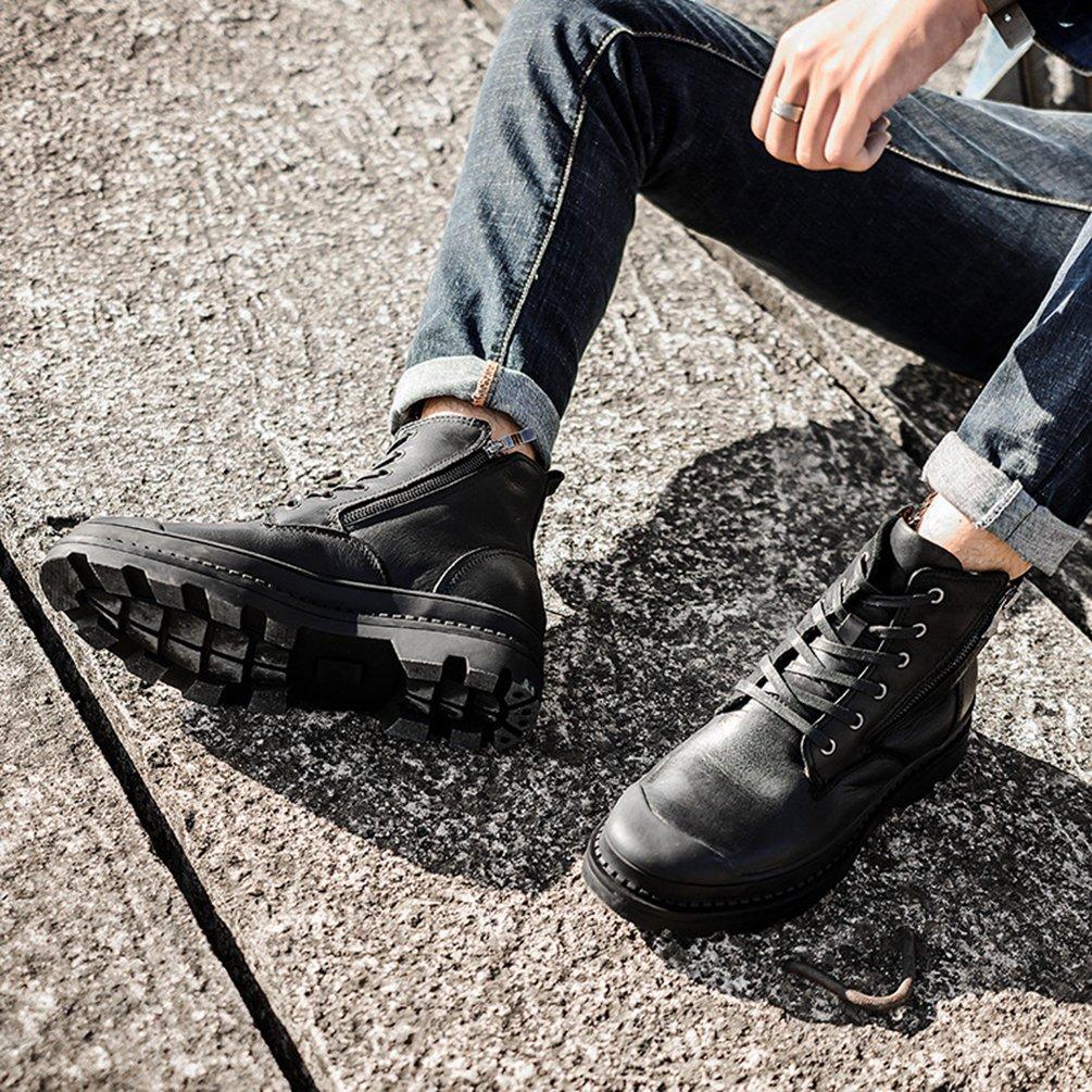 Jitong Herren Schnürstiefel mit Reissverschluss Casual Stiefelette Outdoor Stiefel Stiefel Stiefel Klassische Stiefel 3ee973