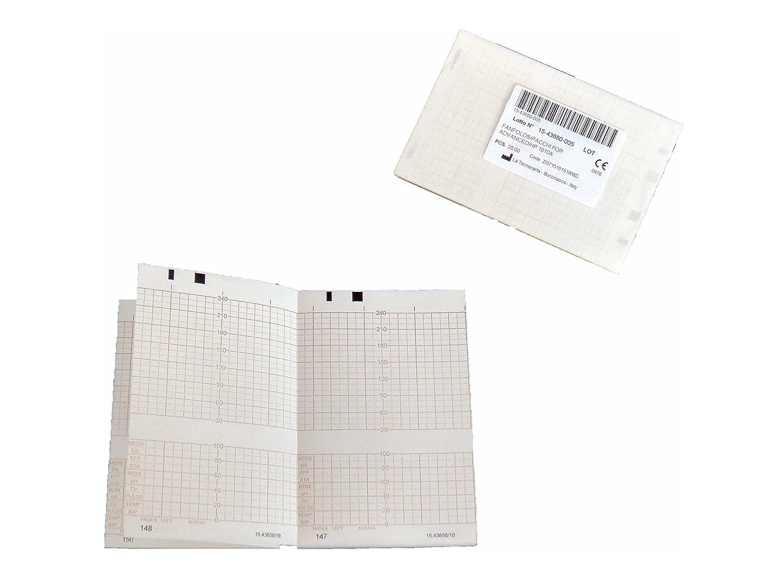 Paquetes plegados de papel térmico para CTG compatibles con Advanced Medical Systems/HP/Philips M1910A