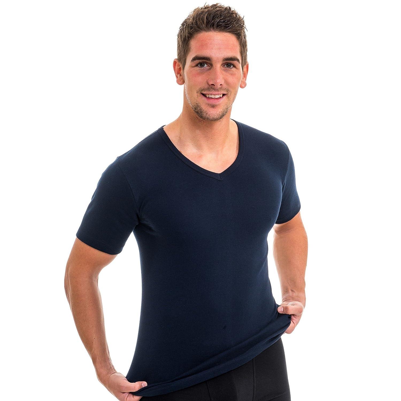 HERMKO 4880 3er Pack Herren kurzarm Business Shirt V-Neck  (Weitere Farben  354ecda53d
