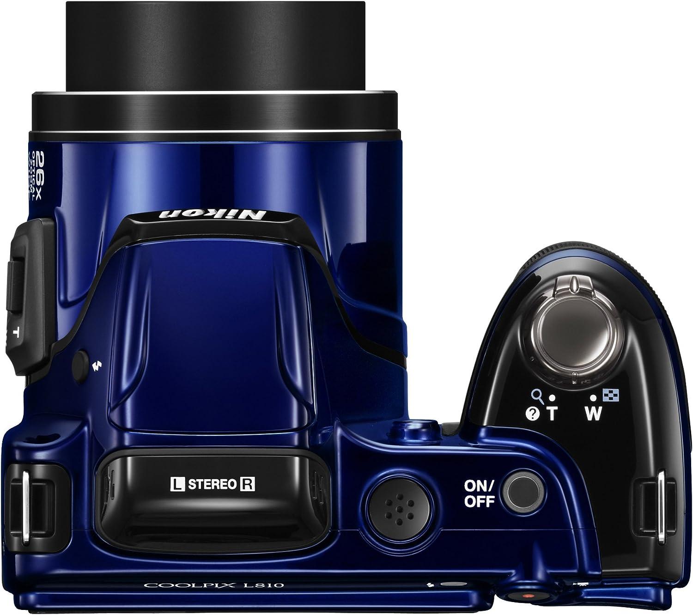 Nikon Coolpix L810 Digitalkamera 3 Zoll Blau Kamera