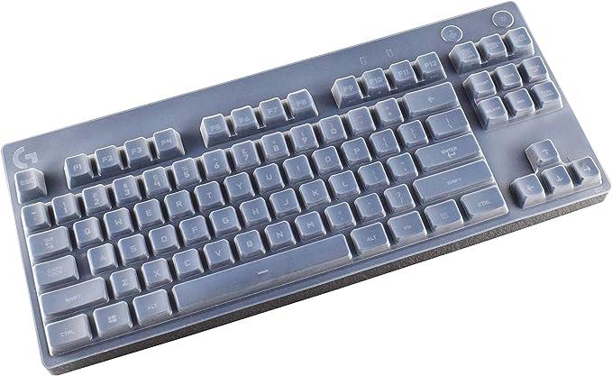 Funda para teclado ultrafina compatible con teclado mecánico Logitech G Pro, transparente
