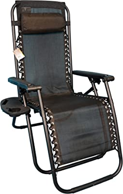 Backyard Expressions 906630 Anti-Gravity Chair, Black