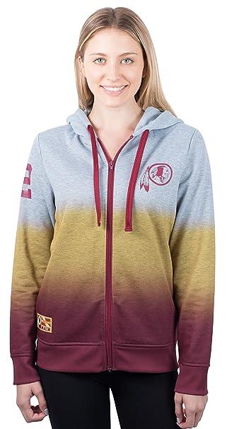 e5d5c001 Ultra Game NFL Washington Redskins Women's Full Zip Hoodie Sweatshirt  Hombre Jacket, Team Color, Heather Gray, Medium