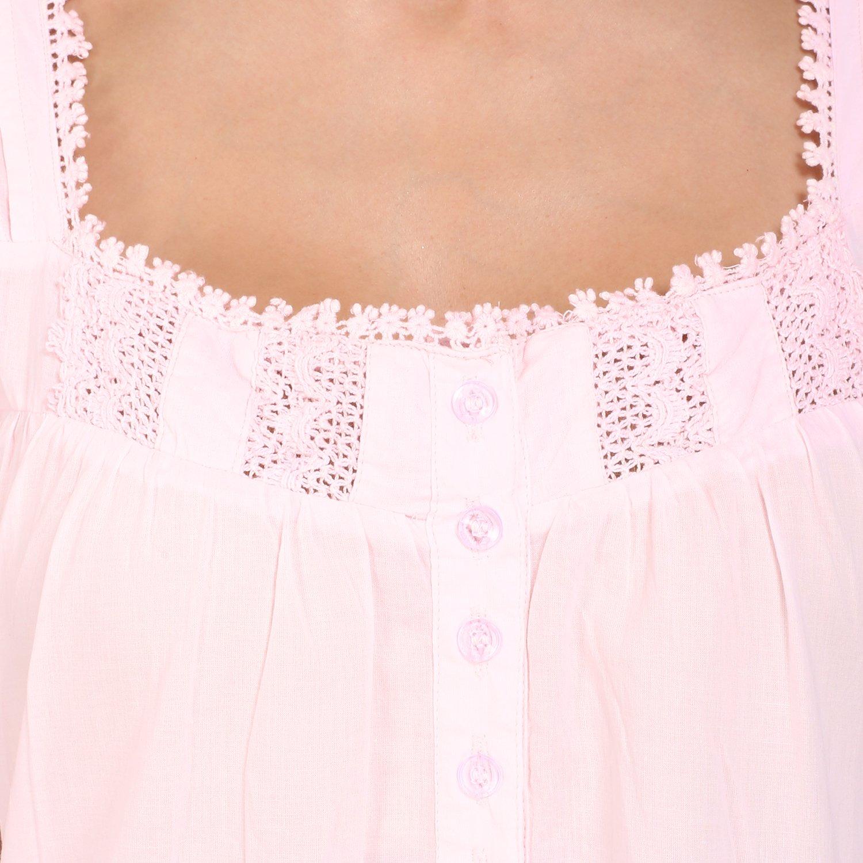 24c350840e Miss Lavish Victorian Style Nightgown Sleeveless Long Sleepwear Women Cotton  Plus Size Vintage Nightdress