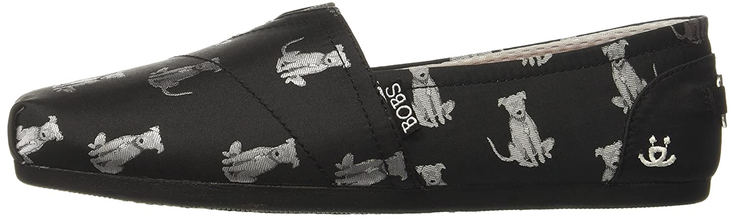 Skechers BOBS from Women's Bobs Plush-Sit Stay Flat B06XDY6WXW 9 B(M) US|Black