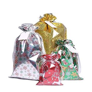 Bolsas de regalo de Navidad, 40 unidades de bolsas de regalo ...
