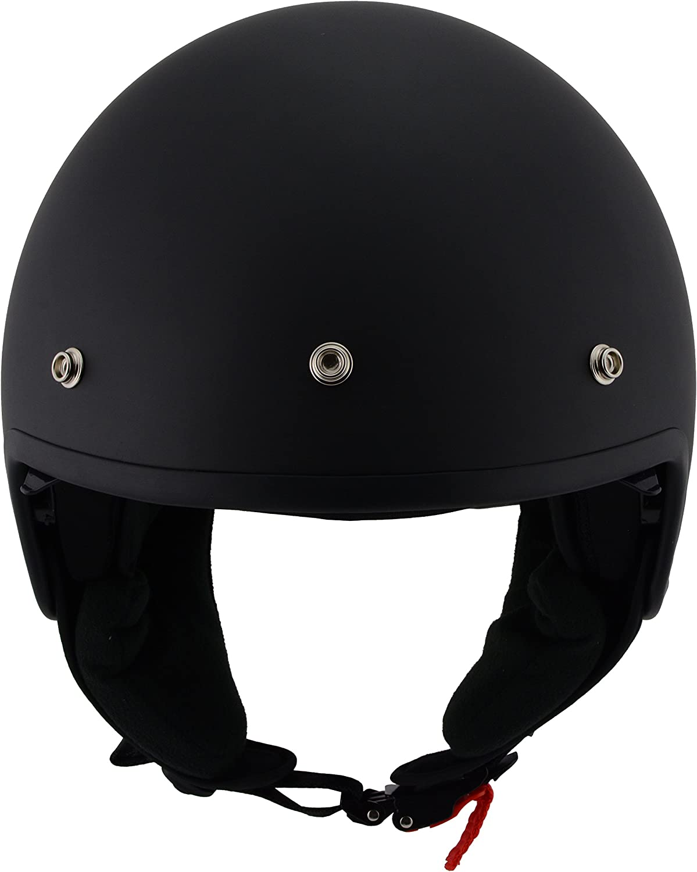 Milwaukee Performance Helmets Unisex-Adult Open face Accelerator Helmet Mat Black X-Large MPH9700DOT-MAT BLACK-XL