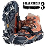 Uelfbaby Crampons Upgraded 19 Spikes Ice Snow Grips Traction Cleats System Safe Protect for Walking, Jogging, or Hiking…