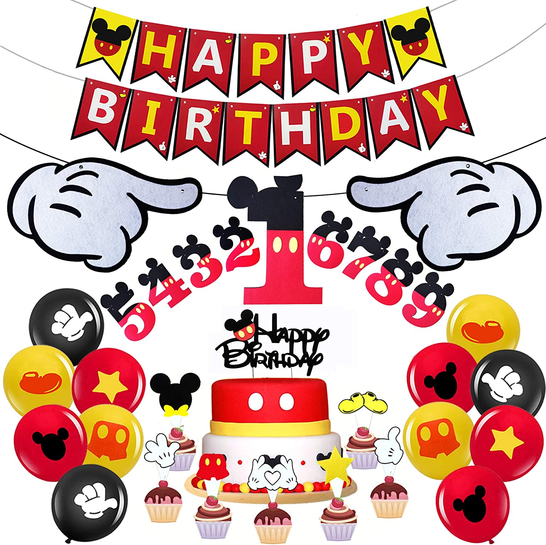 Mickey Mouse Juego De Decoración Para Fiestas De Cumpleaños Diseño De Mickey Mouse Toys Games