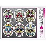 Totenkopf Aufkleber - Sugar Skull ssk43-48 - A5-Bogen calavera Day of the dead Dia de los muertos