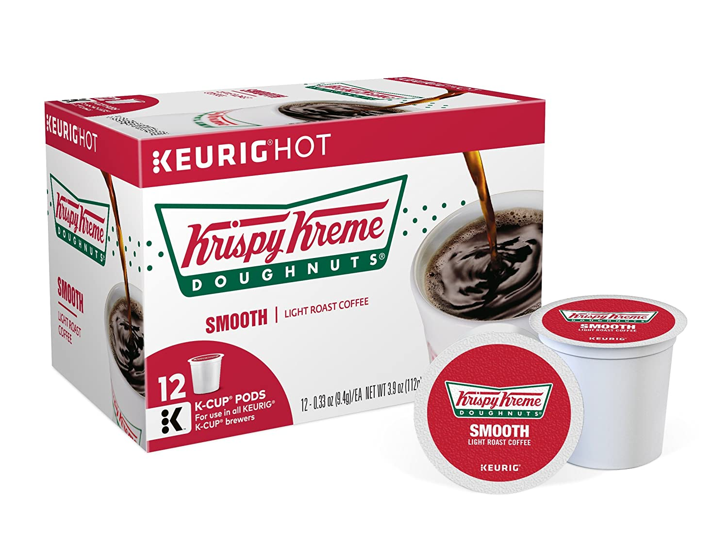Krispy Kreme Doughnuts, Keurig Single-Serve K-Cup Pods, Smooth Light ...