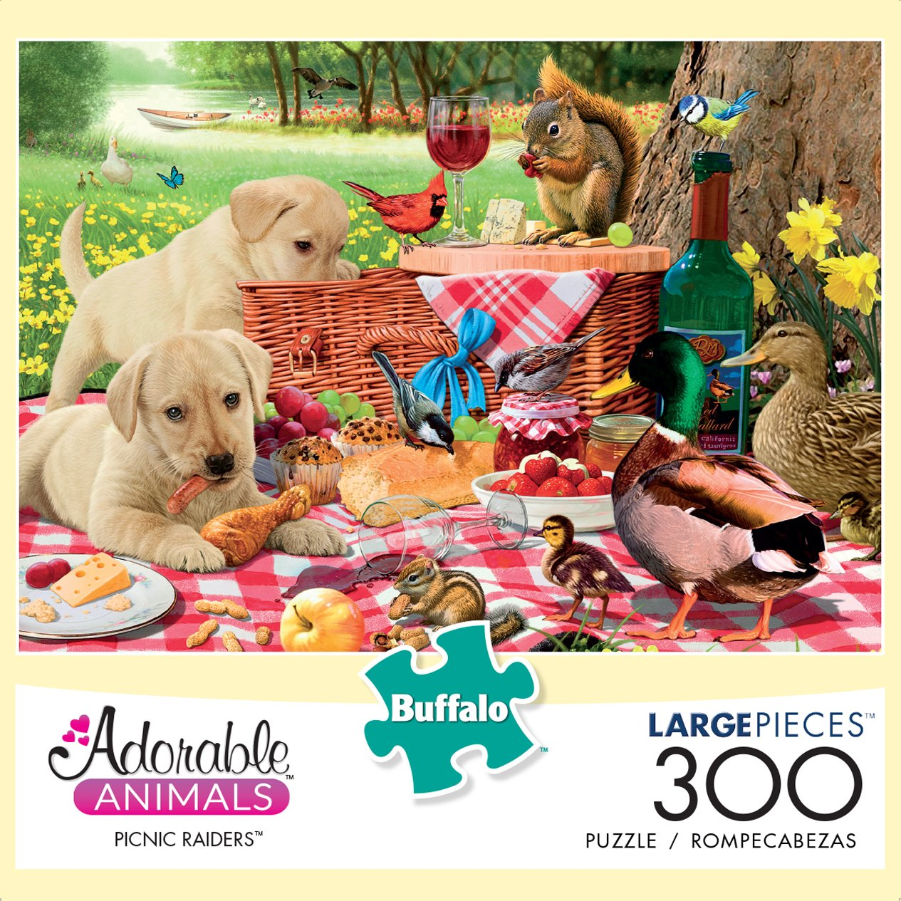 Buffalo Games - Adorable Animals - Picnic Raiders - 300 Large Piece Jigsaw Puzzle by Buffalo Games (Image #2)