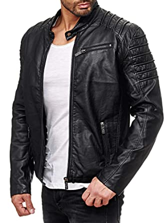 best loved look out for original Red Bridge Men's Faux Leather Jacket Cool Biker Casual ...