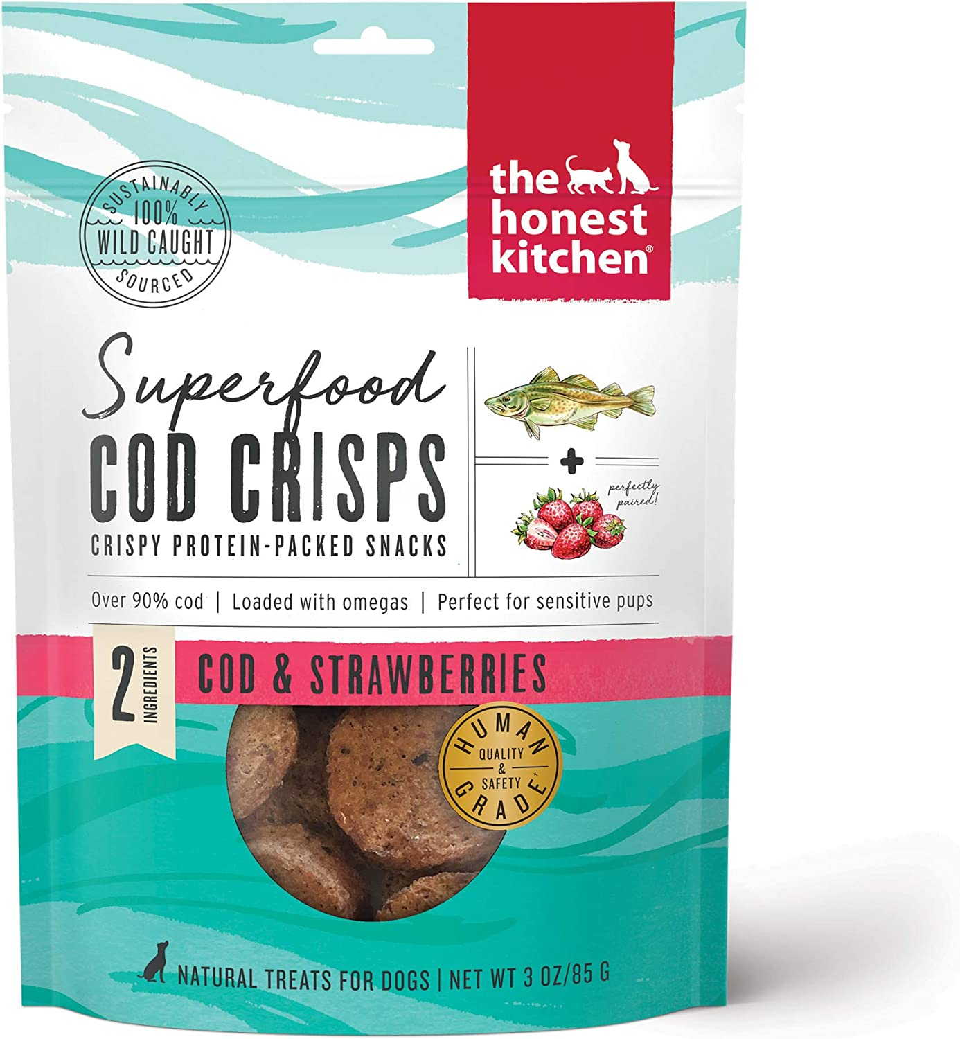 The Honest Kitchen Superfood Cod Crisps for Dogs