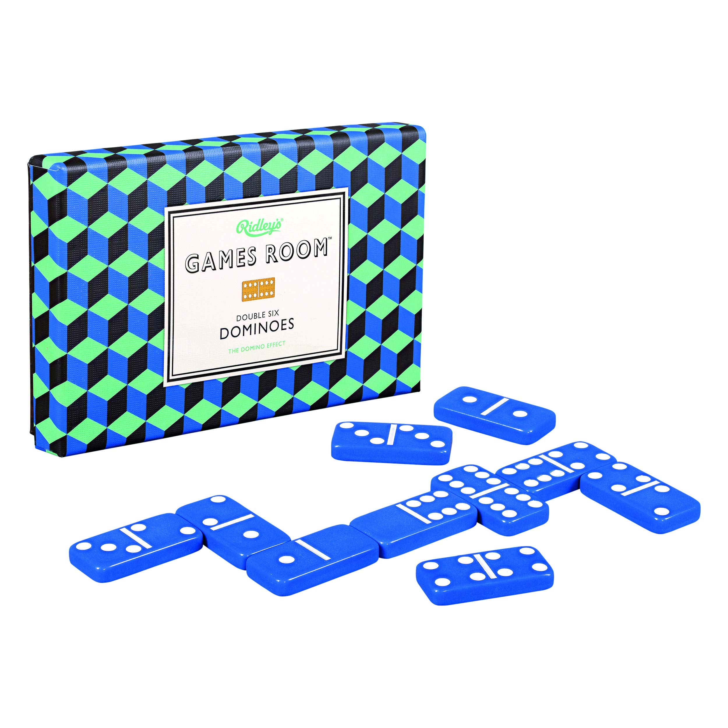 Classic Double Six Dominoes Family Tile Game